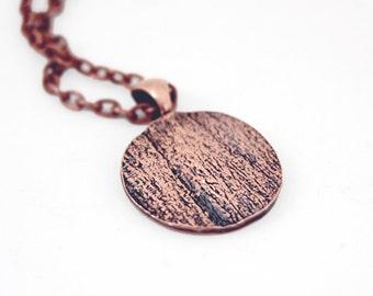 Eucalyptus bark circle pendant                            *nature-inspired jewelry*