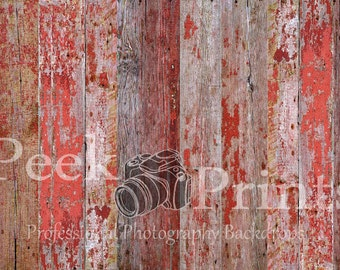 6ft.x4ft. Red Barn Wood Vinyl Backdrop WOOD FLOORDROP