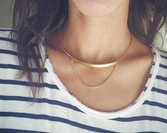 MINIMAL GOLD CHOKER Necklace