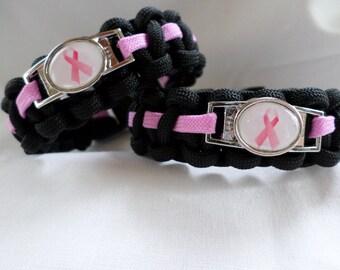 October breast cancer awareness 550 Paracord bracelet