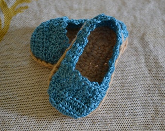 Crocheted Baby Booties. Loafers. Baby Girl Booties