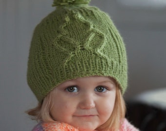 Hat Knitting Pattern PDF, Kid's Hat pattern, Frog Hat Pattern, Kid's Frog Hat, Knitted hat pattern, Kid's knitted hat, Rib-It Hat Pattern