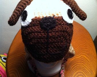 Crochet Pug hat