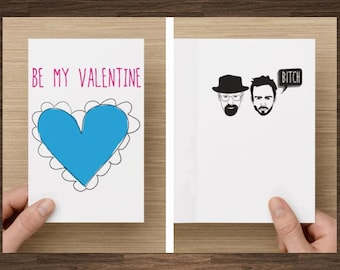 Breaking Bad Valentine Card, Valentine card for boyfriend, Pop culture card