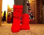 Cabled Slipper Boots