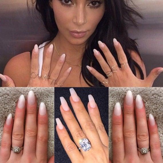 Ongles naturels, kim kardashian, appuyez sur les ongles, faux ongles, de la