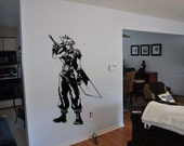 Final Fantasy 7 Inspired Cloud Strife Wall Decal featured image