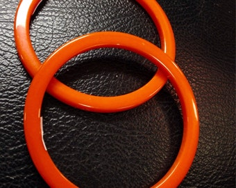 Vintage 30's tangerine orange bakelite bangle bracelet spacer
