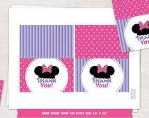 INSTANT DOWNLOAD Minnies bowtique Thank You Notes