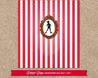 Peter Pan dessert table backdrop (digital file)