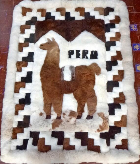 Alpaca Fur Rug Peruvian Rug 120 X 160 Cm 47.2 By