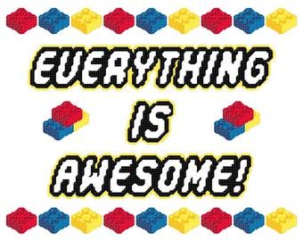 Awesome Bricks Inspired Cross Stitch PATTERN