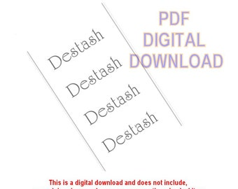 """PDF """"Destash"""" Printable Yarn Wrappers - PDF download - 2"""" wide by 11"""" or cut to desired length - Simple Solution for a lost wrapper"""