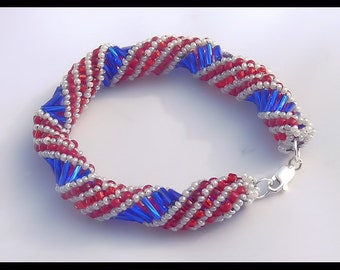 Red, White, and Blue Bracelet