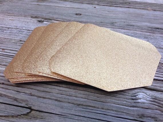Gold Or Silver Glitter Envelope Liner A7 5X7 Envelope Liner