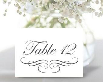 Printable Wedding table numbers | Dark grey