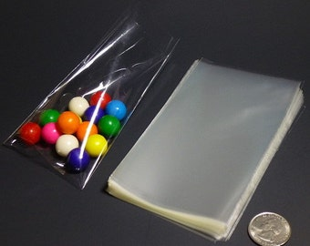 Clear Polypropylene 'Cellophane' Favor Treat Candy Bags 3 x 5""