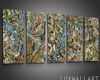 Pollock 7 Modern Metal Wall Art Sculpture for Interior and Exterior