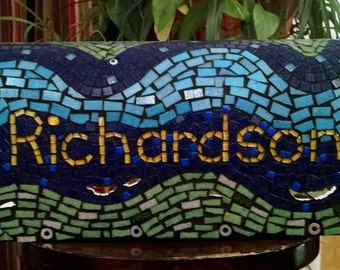 Personalized mosaic mailbox (free shipping)