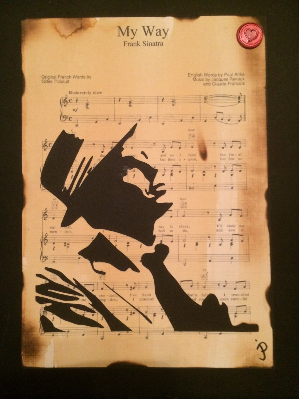 Sheet Music Wall Art custom wedding gift with choice of first dance sheet music