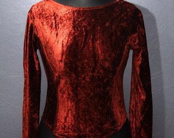 Red wine bodysuit / Size M/L