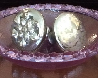 Vintage Mercury Glass Knobs, Curtain Ties, Home Decor
