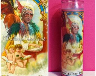 Elton John /  celebrity prayer candle