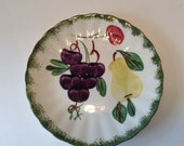 "Southern Potteries Inc Blue Ridge ""Fruit Fantasy"" Bread and Butter Plate"