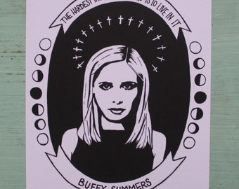 Buffy the Vampire Slayer 4x6 Print/Notecards! Set of 4!