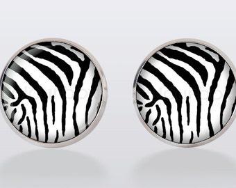 Zebra Cufflinks, cuff links, men cuff links, animal cufflinks, men's cuff links, wedding cufflinks, groom,vintage, vintage style