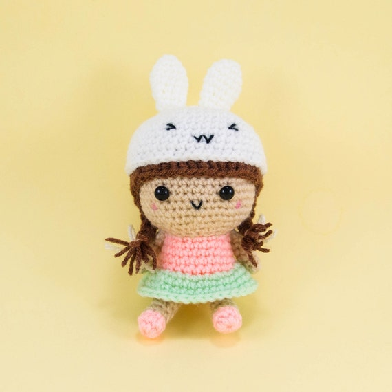 Girl With Bunny Hat Amigurumi Crochet Doll by ...