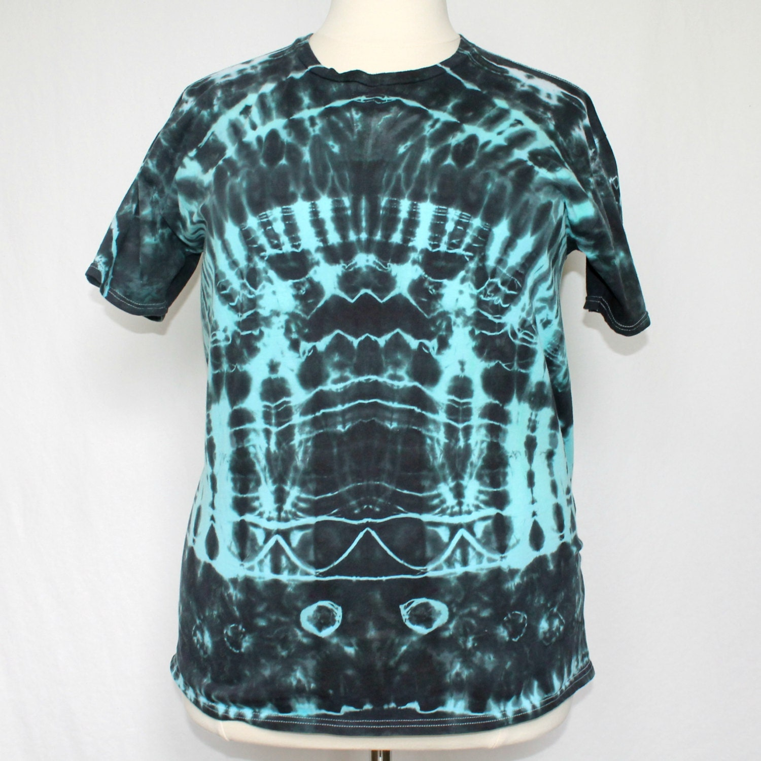 Black and blue tie dye shirt black tie dye by humbledyedesigns for Black and blue tie dye t shirts
