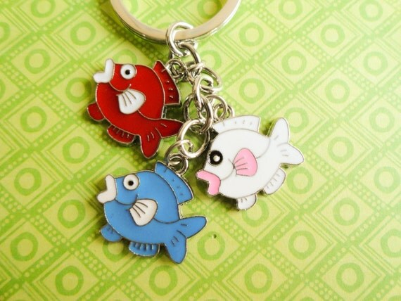 Fish keychain fish keyring keychain for kids by myfunnythings for Best fish for kids