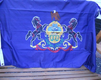 Vintage Dettra Duralite Pennsylvania PA Flag 3X5 In Box US Nylon