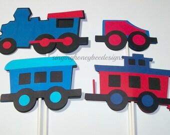 Choo choo train cake topper, Train Cake Topper, Train Birthday party, Train Decorations, Train Smash Cake, Choo choo train baby shower