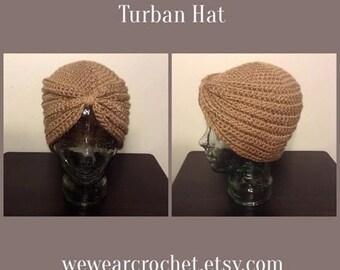 Crochet Turban Hat Pattern ***PATTERN ONLY*** Sale!