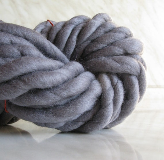Super Bulky Yarn : Super Bulky yarn, Extra Chunky yarn ATLAS Rat gray , super thick yarn ...