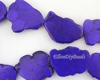 Slab Turquoise Beads,Purple Turquoise Beads,Turquoise Stone,Gemstone Beads---30*40mm--10 Pieces--BT060