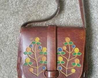 Vintage 1970s Rose Flower Purse