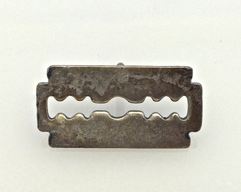Small Razor Tac // Punk // Fun // SilverTone //  Made in the USA by Winky&Dutch(set of 2)