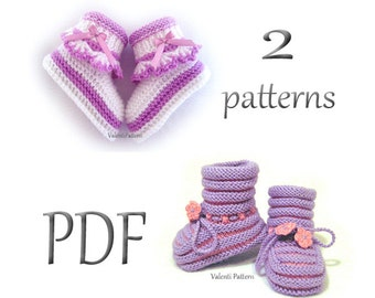 Knitting Patterns Booties, Baby Bootie, Pattern Knitted ,Pattern Baby Shoes, Baby Shoes
