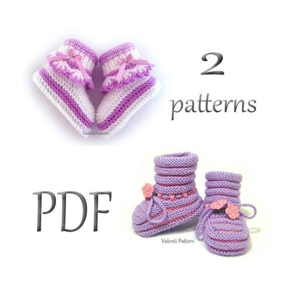Epipa Knitting Pattern Baby Booties : Knitting Patterns Booties Baby Bootie Pattern Knitted