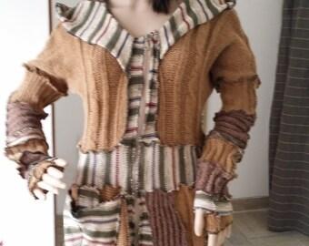 sweater. Elf coat. jacket. by hand.