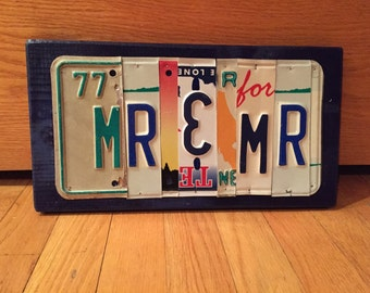 MR & MR License plate sign