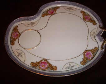 Noritake Hand Painted Snack Plate / Free Shipping