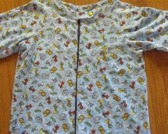 AB Footed Pajamas, ab flannel footed pajamas,  ab embroidered pajamas, ab monogrammed footed pajamas
