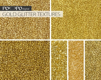 Gold glitter digital paper glitter textures background scrapbooking party supplies printable card design graphics invites golden shine shiny