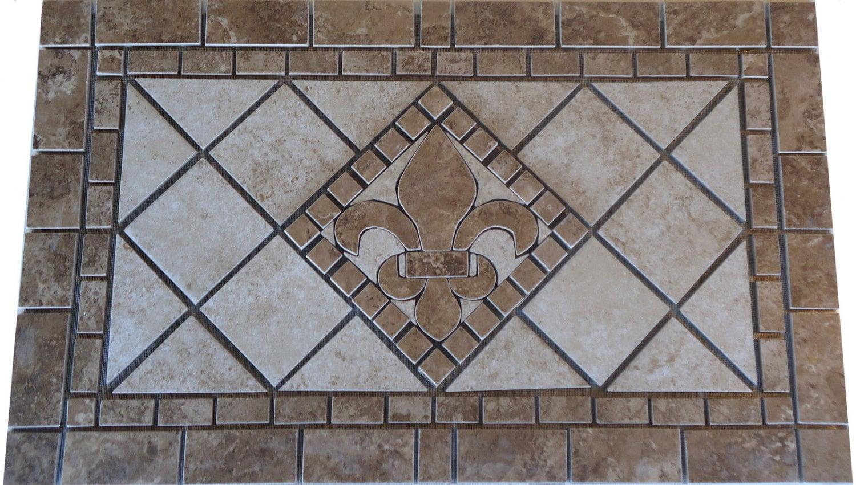 Charro porcelain tile fleur dis lis mosaic medallion zoom dailygadgetfo Gallery