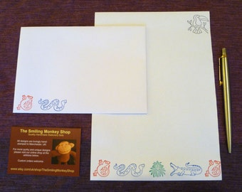 Rainforest Stationery Set - Stationery Paper - Stationery Set - Writing Paper - Writing Paper Stationery - Animal Paper