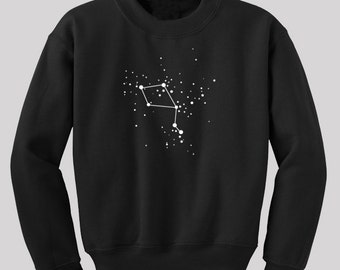 Libra Zodiac Constellations Sweatshirt  - Screen printed